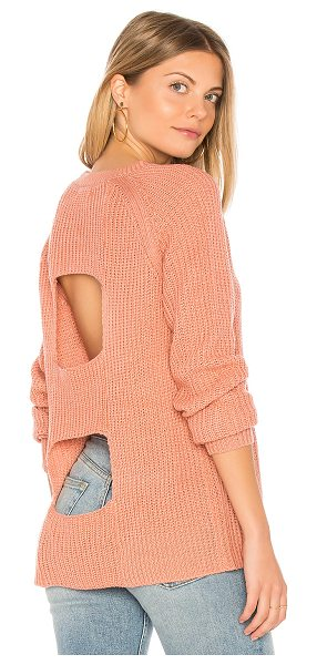 BB Dakota Jack by  Percival Sweater in rose dawn - 100% acrylic. Hand wash cold. Knit fabric. Back...