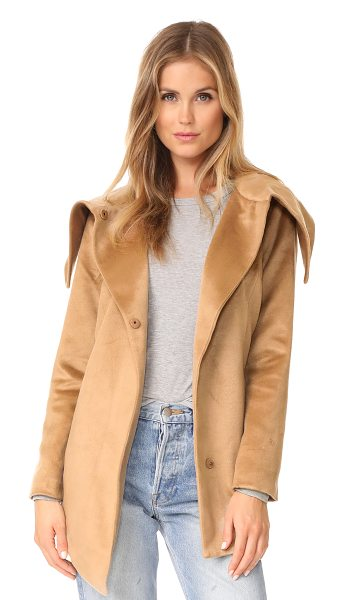 BB Dakota jack by  henry coat in fall camel - An oversized collar lends a cozy look to this Jack by BB...