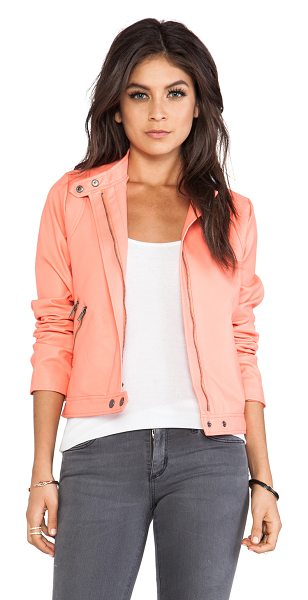 BB Dakota Izzy moto jacket in coral