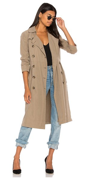 BB Dakota Jack by BB Dakota Lexia Coat in taupe - Poly blend. Hand wash cold. Front button closure....