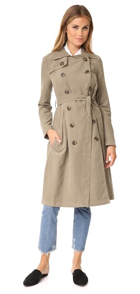 BB Dakota jack by  lexia trench coat in dark taupe - A classic Jack by BB Dakota trench coat with a sueded...
