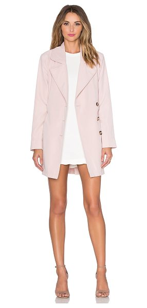 BB Dakota Jack by  monroe trench coat in beige - Poly blend. Hand wash cold. Button front closure. Waist...