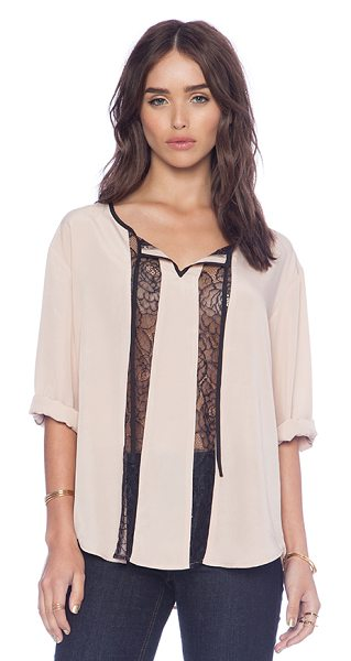 BB Dakota Rach lace insert top in blush
