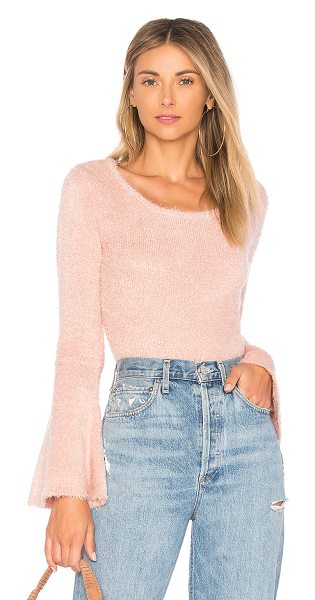 BB Dakota JACK by BB Dakota Regine Sweater in rose - 100% poly. Hand wash cold. Flared sleeves. Rib knit...