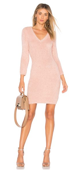BB Dakota JACK by BB Dakota Valencia Dress in rose - 100% poly. Hand wash cold. Unlined. Frayed knit fabric....