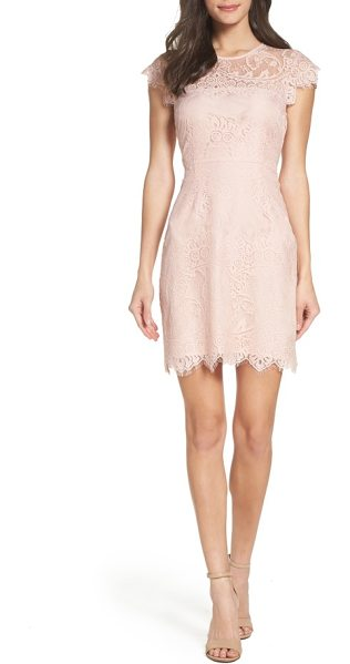 BB Dakota jayce lace sheath dress in rose smoke - Lace brings timeless romance and femininity to a fitted...