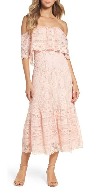 BB DAKOTA katie lace midi dress - Romantic lace in an easygoing cut primes this popover...