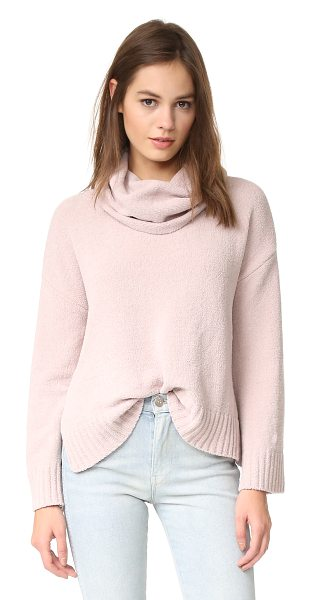 BB Dakota marcilly cowl neck cropped sweater in champagne - A cozy BB Dakota sweater styled with a slouchy, cowl...