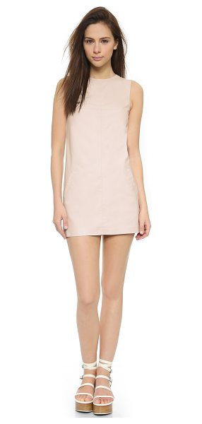 BB Dakota Marius dress in parchment - Smooth faux leather brings a glamorous look to this BB...