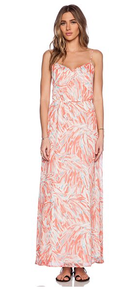 "BB Dakota Preslee maxi dress in pink - 100% poly. Neckline to hem measures approx 50"""" in..."