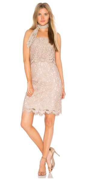 "BB Dakota RSVP by BB Dakota Sakura Dress in blush - ""Self: 51% rayon 29% cotton 20% polyamideLining: 100%..."