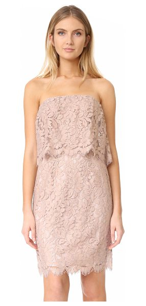 BB Dakota r.s.v.p by  sakura strapless lace dress in blush - A graceful lace BB Dakota dress, styled with a draped...
