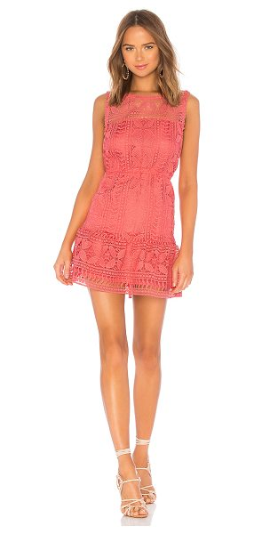 BB Dakota Sandra Dress in coral - Self & Lining: 100% poly. Hand wash cold. Fully lined....