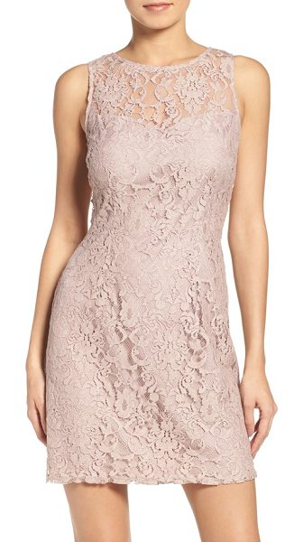 BB Dakota thessaly lace dress in champagne - Party ready in pretty floral lace with a sheer...