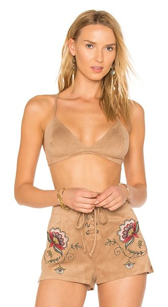 BB DAKOTA X REVOLVE Ainsley Bralette - Poly blend. Hand wash cold. Stretch fit. Knotted and...