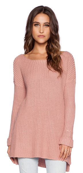 BB Dakota Xylon sweater in blush - 60% cotton 40% acrylic. Hand wash cold. Rib knit....