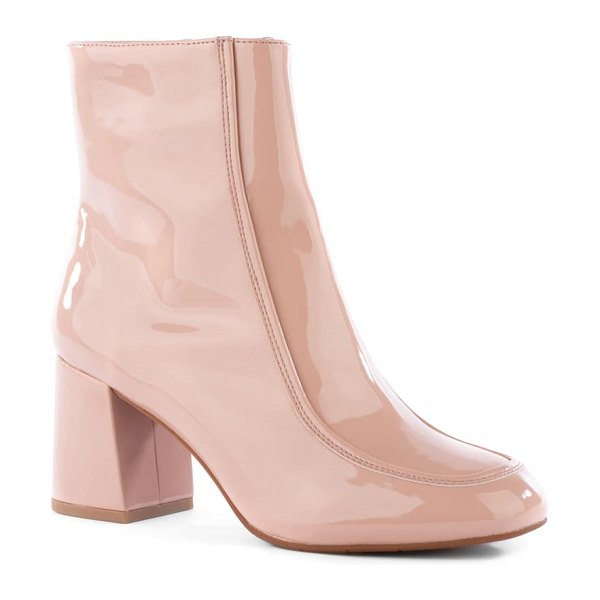 BC Footwear after all vegan leather bootie in pink