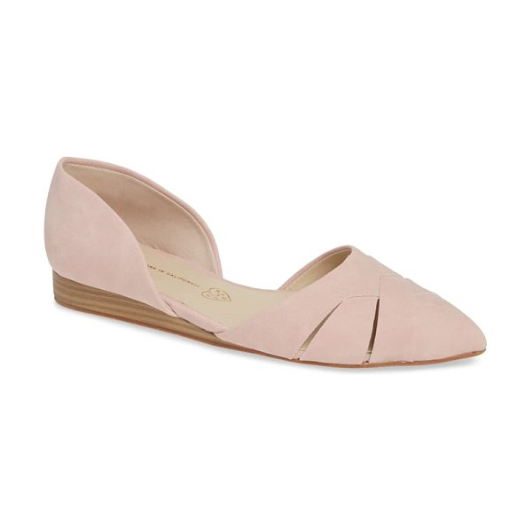 BC Footwear focal point vegan pointy toe flat in pink