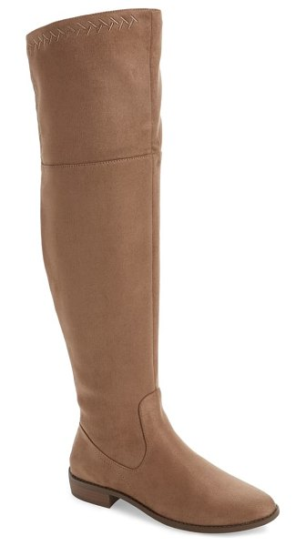 BC Footwear height over the knee boot in beige