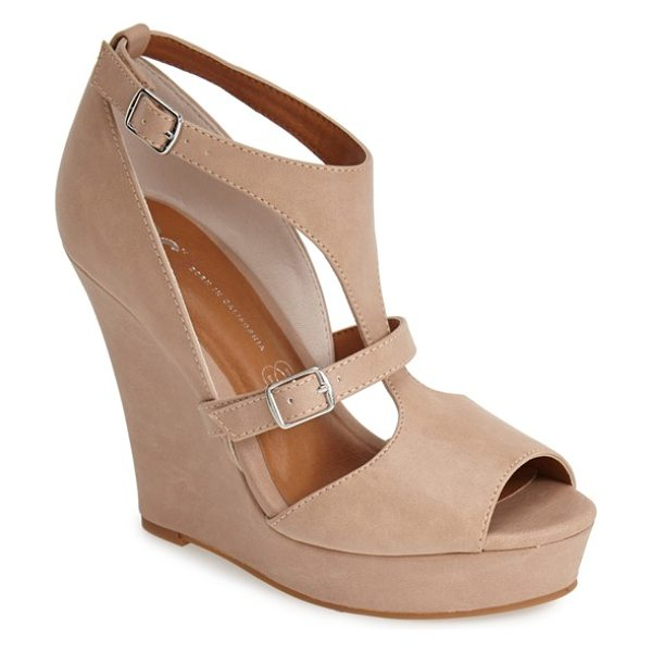 BC FOOTWEAR lionness faux leather wedge sandal - A slim wedge elevates this vintage-inspired sandal made...