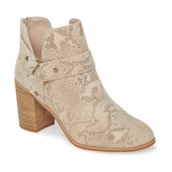 BC Footwear miss independent vegan bootie in beige