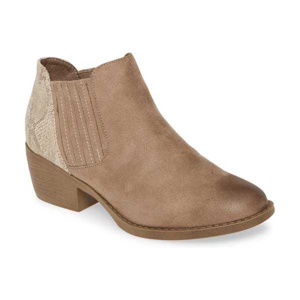 BC Footwear preach vegan bootie in beige