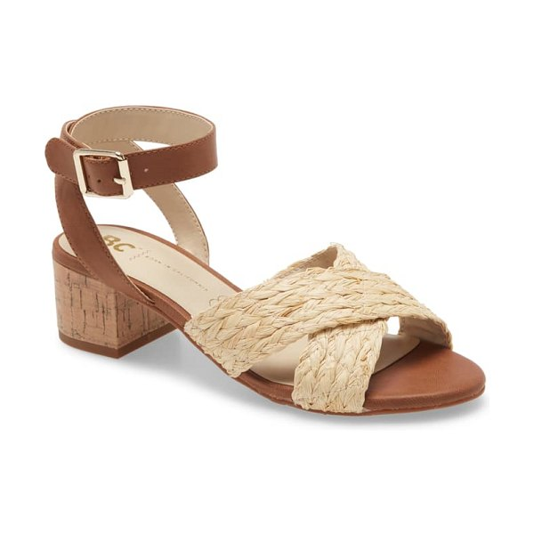BC Footwear smell the roses vegan ankle strap sandal in brown