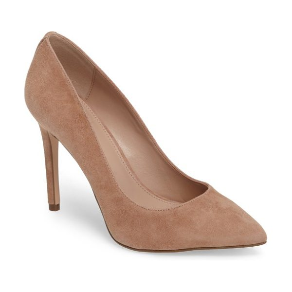 BCBG heidi pump in makeup suede - A wrapped stiletto heel supports an essential pointy-toe...