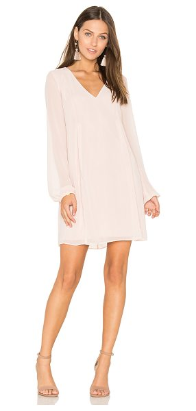 BCBGeneration Bow Dress in rose smoke - Self & Lining: 100% poly. Fully lined. Pleated detail....