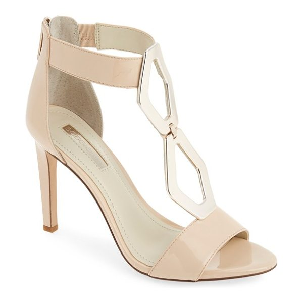 BCBGeneration cayce patent sandal in nude blush patent - Shiny, oblong octagons catch the eye on an alluring...