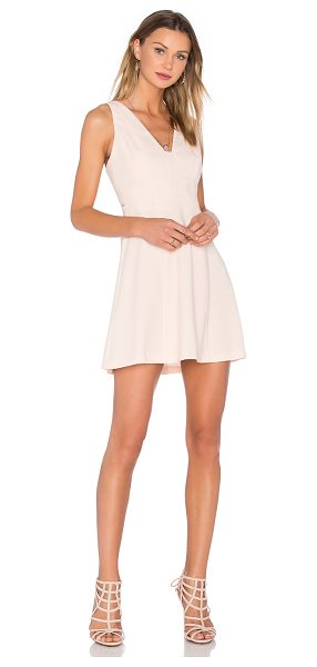 BCBGeneration Cocktail Halter Dress in peach - 100% poly. Unlined. Hidden back zipper closure. Lace...
