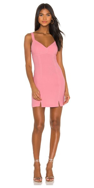 BCBGeneration cocktail stitched bodycon dress in watermelon