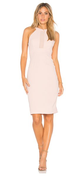BCBGeneration Contrast Dress in blush - 100% poly. Partially lined. Sheer bodice insets. Back...