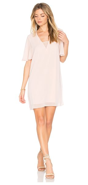 BCBGeneration Deep V Dress in pink - Self & Lining: 100% poly. Fully lined. Lace inset...