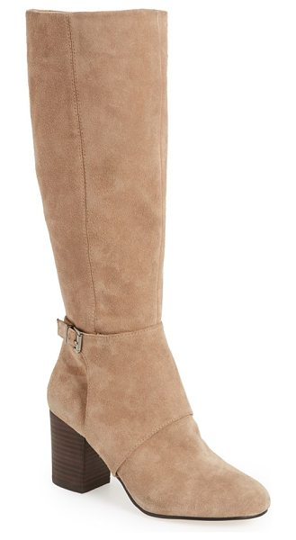BCBGeneration denver knee high boot in taupe - A sophisticated knee-high boot is cut from smooth...