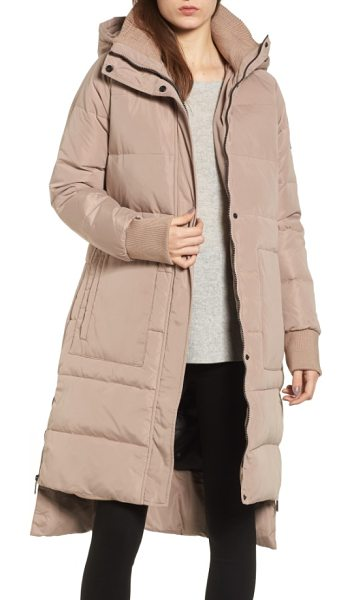 BCBGeneration down & feather fill puffer jacket in blush - This must-have puffer will protect you from the harshest...