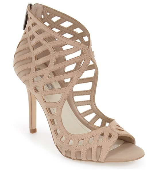 BCBGeneration 'drita' sandal in sand nubuck leather - Gorgeous cutouts framed in meticulous tonal stitching...