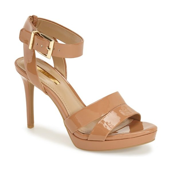 BCBGeneration elka sandal in ginger patent - Crisscrossed ankle straps add to the elegance of a chic...