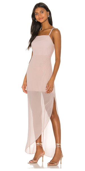 BCBGeneration evening strappy dress in rose smoke