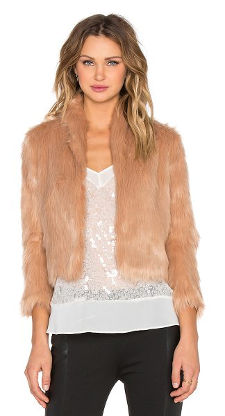 BCBGeneration Faux fur jacket in blush - Shell: 80% acrylic 20% polyLining: 100% poly. Hand wash...