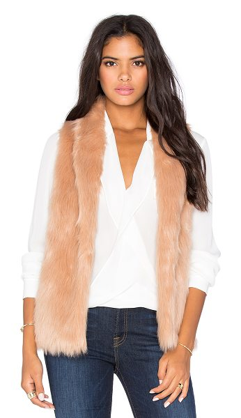 BCBGeneration Faux fur vest in tan - Faux fur: 80% acrylic 20% polyLining: 100 %poly. Hand...
