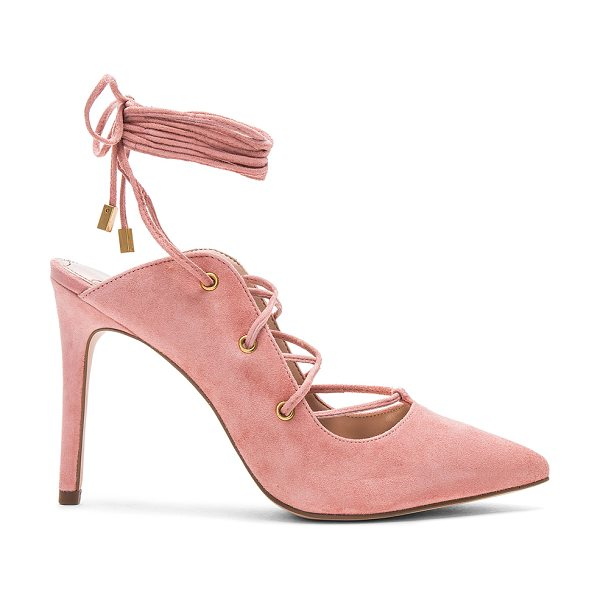 "BCBGeneration Hayes Heel in pink - ""Suede upper with man made sole. Lace-up front with wrap..."