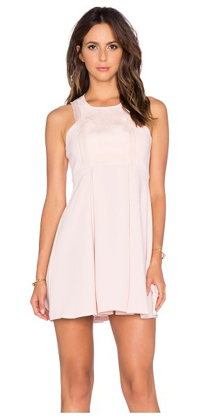 BCBGeneration Lace Fit & Flare Dress in blush - Self: 100% polyContrast: 100% nylonLining: 100% acetate....