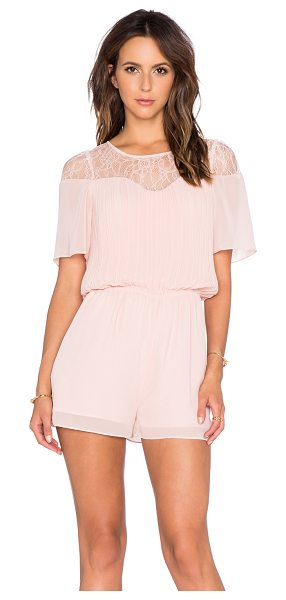 BCBGeneration Lace romper in rose - Self & Lining: 100% polyContrast: 100% nylon. Back...