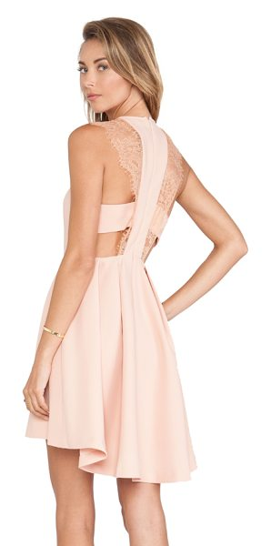 BCBGeneration Lace shoulder dress in blush - Self: 100% polyCombo: 100% nylonLining: 100% acetate....