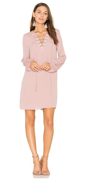 BCBGeneration Lace Up Dress in mauve - Self & Lining: 100% poly. Fully lined. Front lace-up tie...