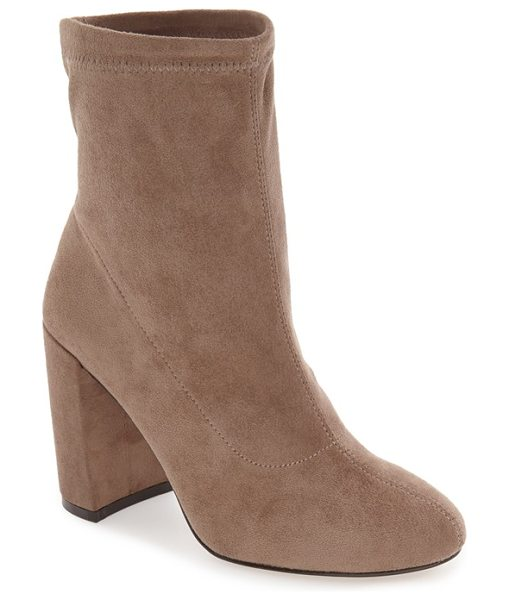 BCBGeneration lilianna block heel bootie in taupe suede - A lush suede bootie takes its inspiration from retro mod...