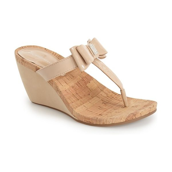 BCBGeneration michelle wedge sandal in warm sand - Lightweight cork and cushy memory foam compose a summery...