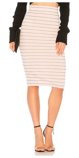 "BCBGeneration Midi Pencil Skirt in rose - ""97% poly 3% spandex. Unlined. Elasticized waistband...."