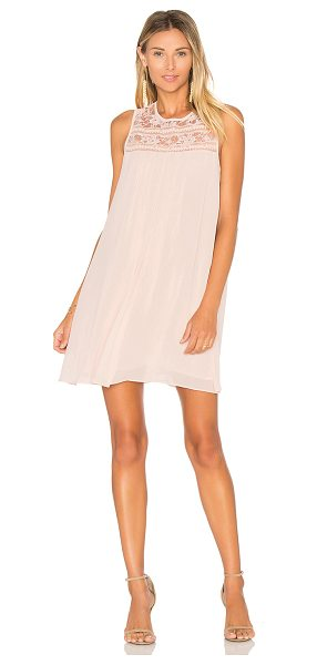 BCBGENERATION Mini Empire Dress in pink - Self & Lining: 100% poly. Fully lined. Lace trim panel....